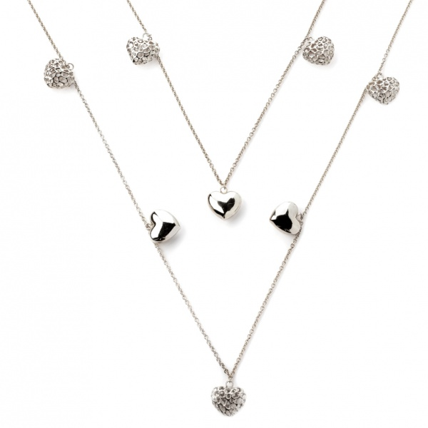 Amore Heart Long Line Chain