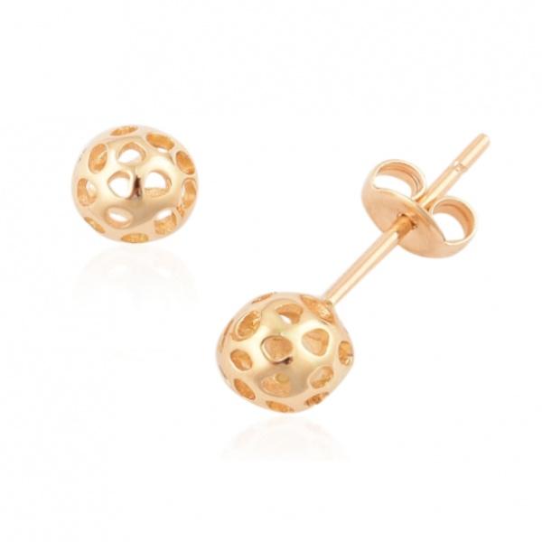 Mini Globe 18ct Yellow Gold Stud Earrings