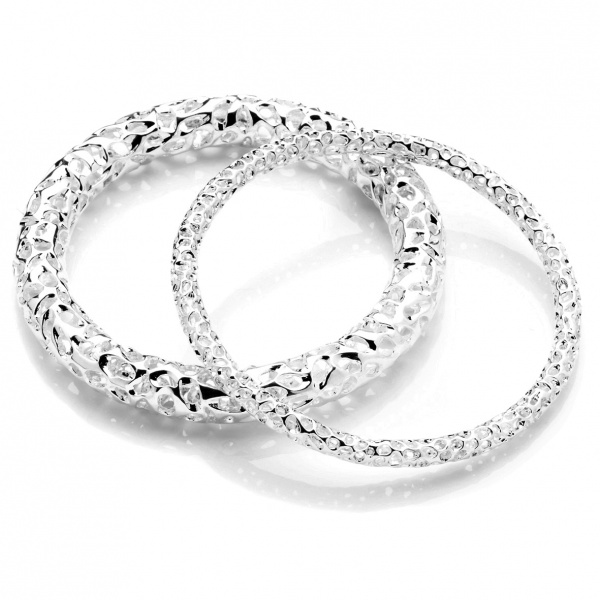 Allegro Skinny Silver Bangle - SM
