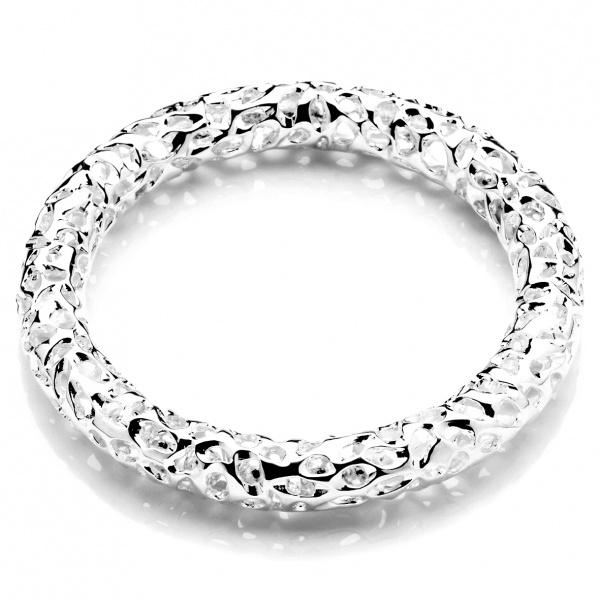 Allegro Silver Bangle - No Internal Beads