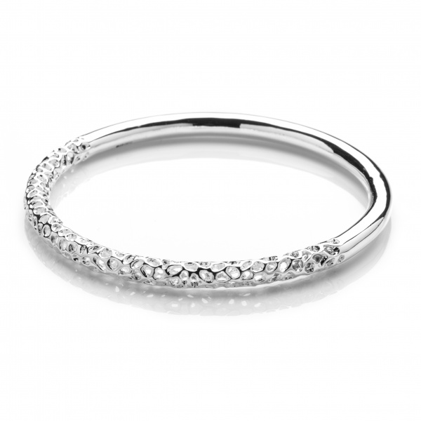 Allegro Half Polished Bangle
