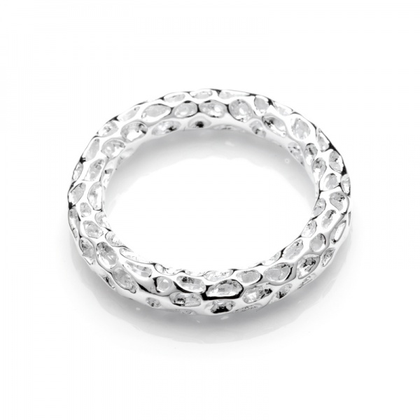 Mini Allegro Band Silver Ring