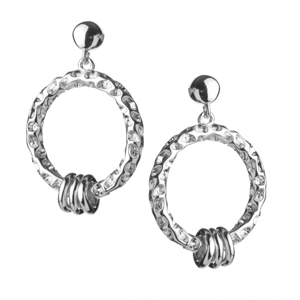 Allegro Triple Charm Earrings
