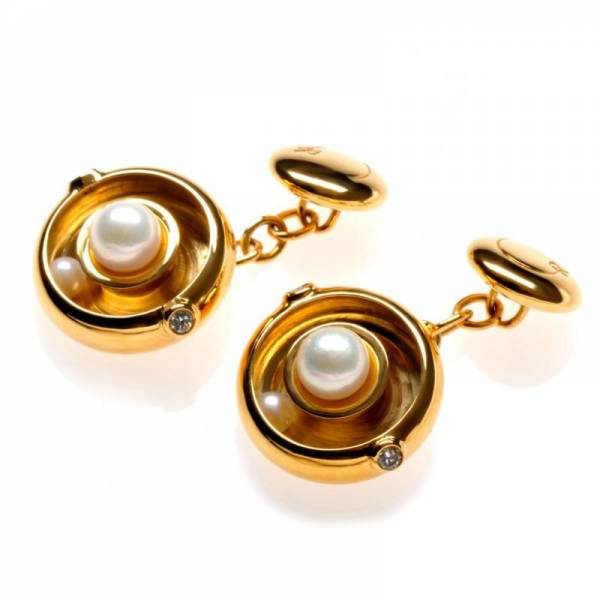 Ananta 18ct Gold and Pearl Cufflinks
