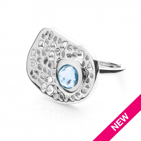 Candy Ring Swiss Blue Topaz - Size L