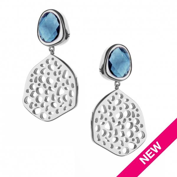 Candy Lg Drop Earrings London Blue Topaz