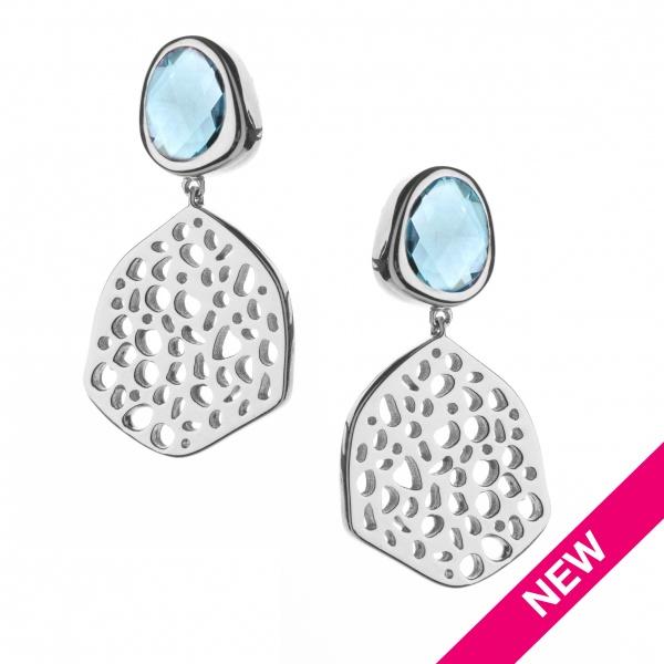 Candy Lg Drop Earrings Swiss Blue Topaz