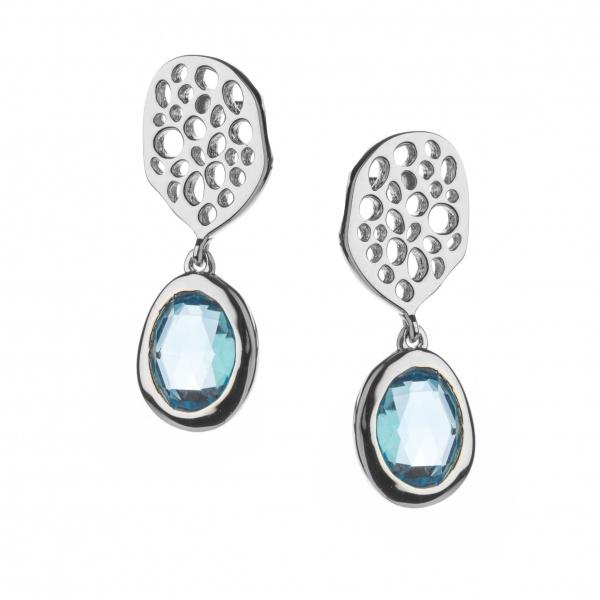 Candy Sm Drop Earrings Swiss Blue Topaz