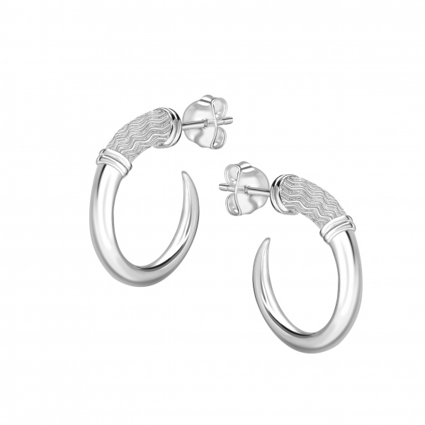 Cherish ZigZag Hoop Earrings