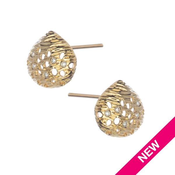 Cala 18ct Gold and Diamond Stud Earrings