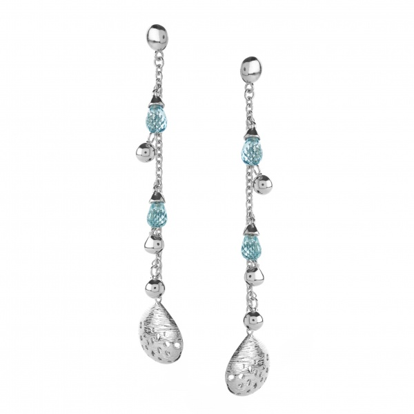 Cala Shell Topaz Drop Earrings
