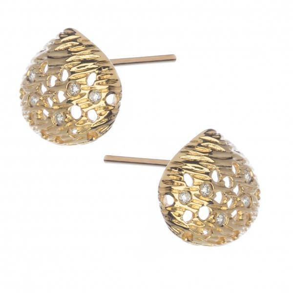 Cala 18ct Gold and Diamond Stud Earrings