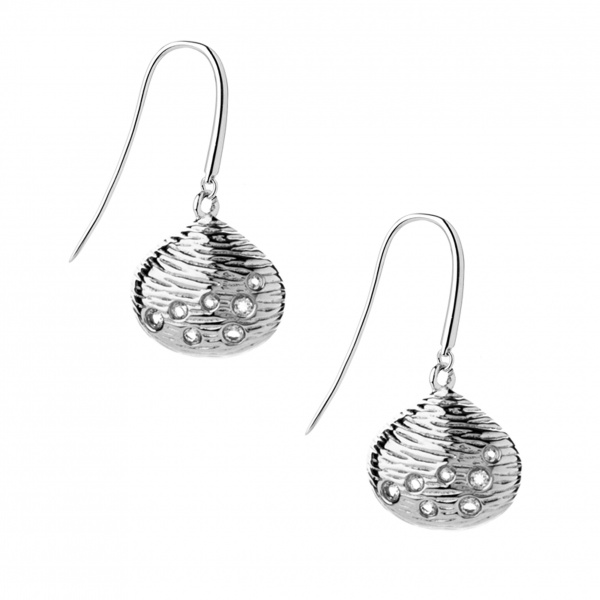 Cala Diamond Hook Drop Earrings