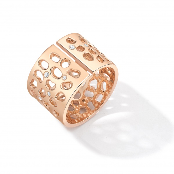 Enkai Split Ring E303-18K-Rose Gold