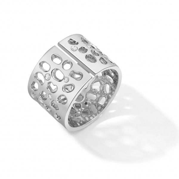 Enkai Split Ring E303-Silver White Sapphire