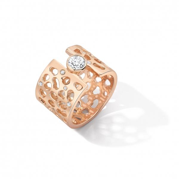 Enkai Diamond Ring E304-SV Silver & White Sapphires