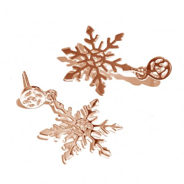 Snowflake Earrings Rose