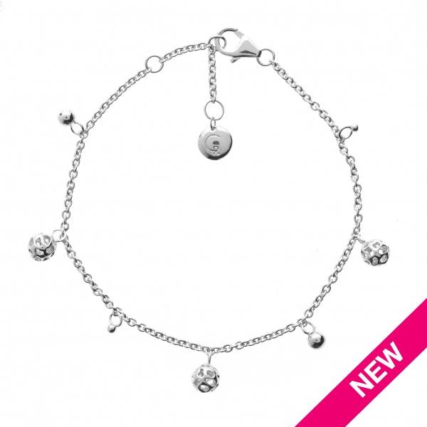 Globe Mini Bead Charm Bracelet