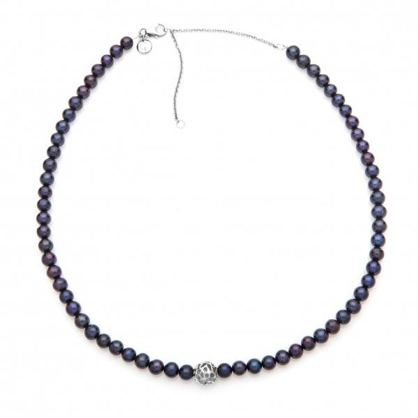 Pearl Globe Necklace Black