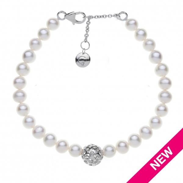 Pearl Globe Bracelet White
