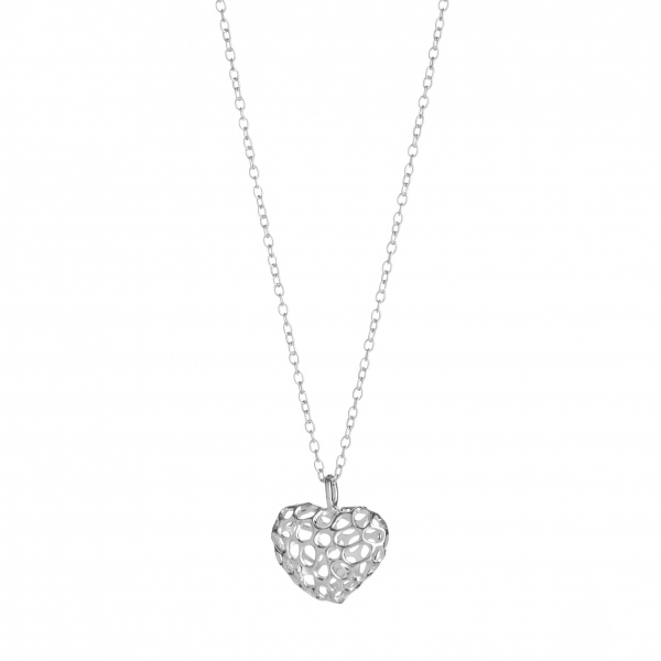 Amore Heart Lattice Heart Pendant