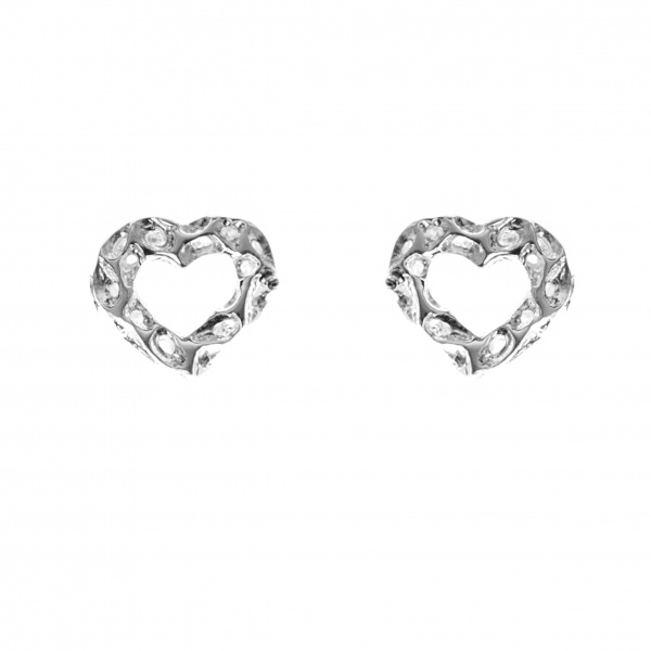 Amore Open Heart Stud Earrings