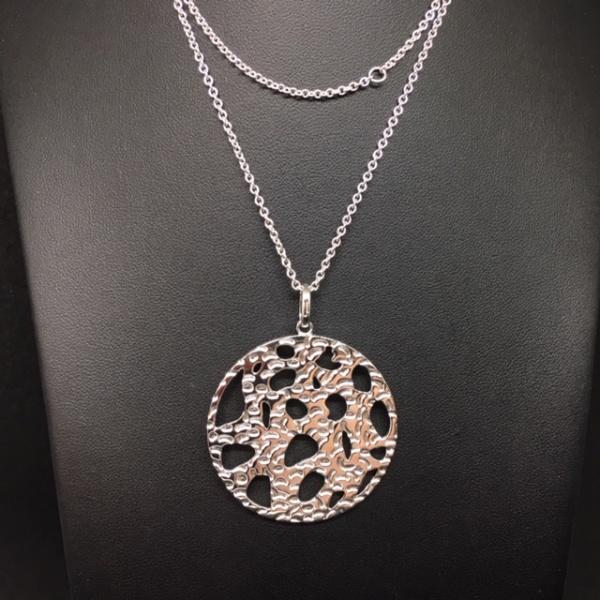 LAST ONE Textured disc pendant