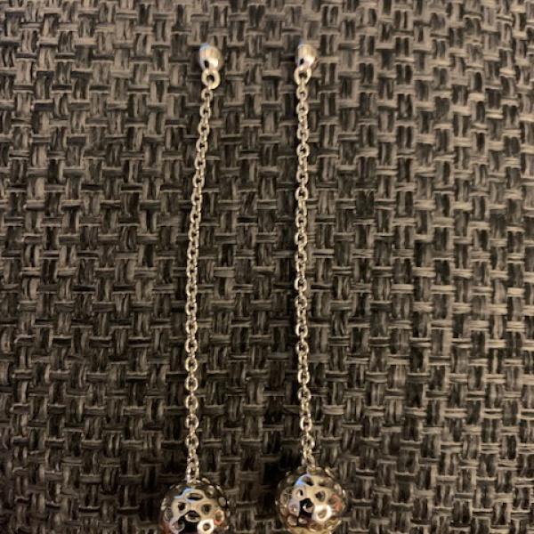 Globe long drop earring
