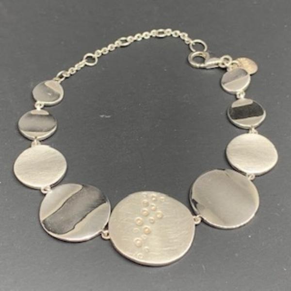 Disc Diamond Bracelet