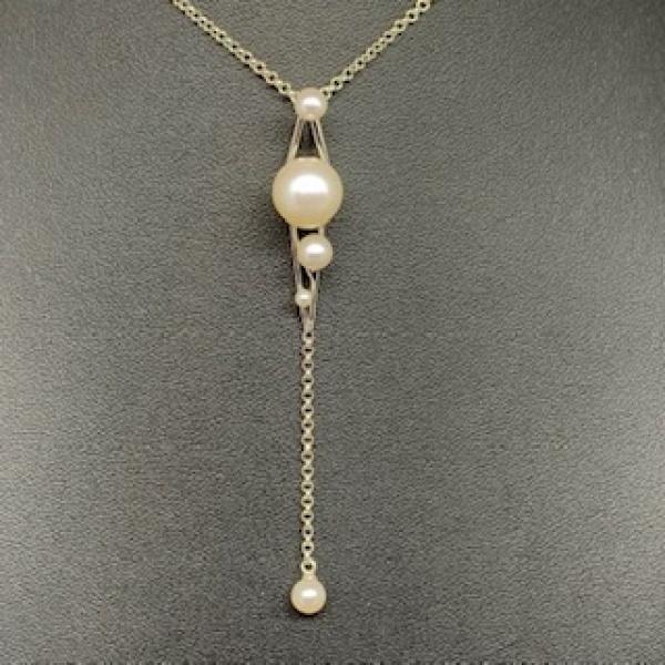 Pearl Angled Pendant