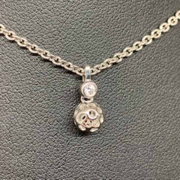 Mini Globe topaz pendant