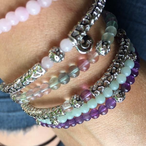 Stretchy Bead Bracelet Rainbow Fluorite