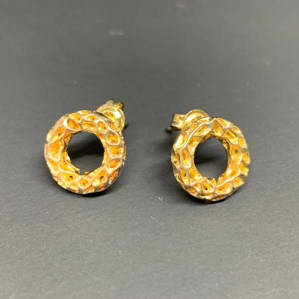 Allegro stud earrings gold overlay