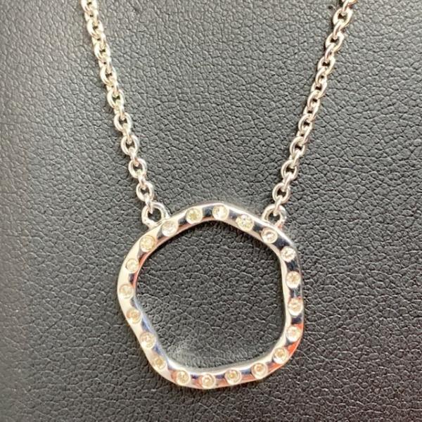 ONE OFF Diamond circle pendant