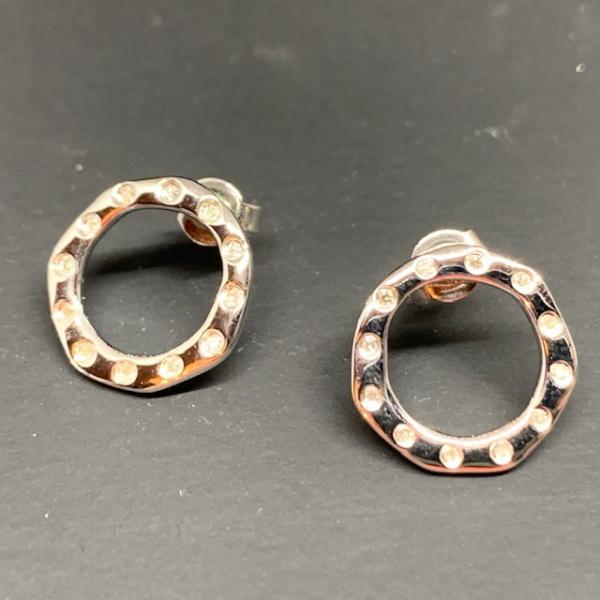 ONE OFF Diamond circle earrings