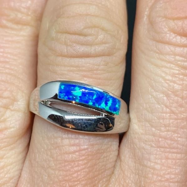 Boulder Opal Band Ring
