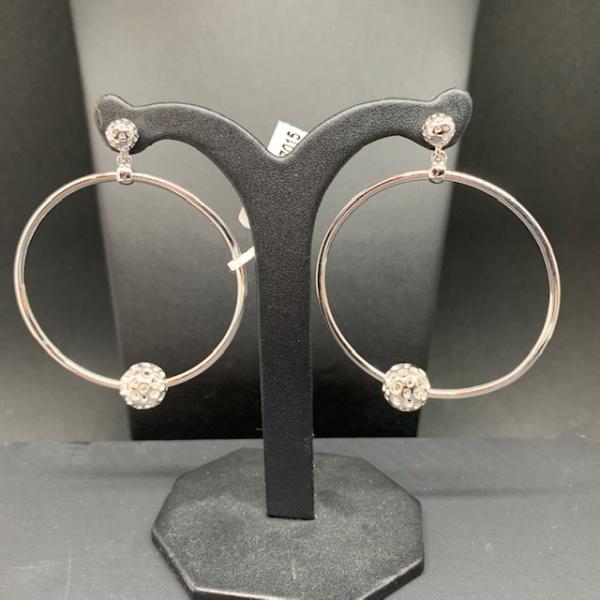 Globe Bead Hoop Earrings