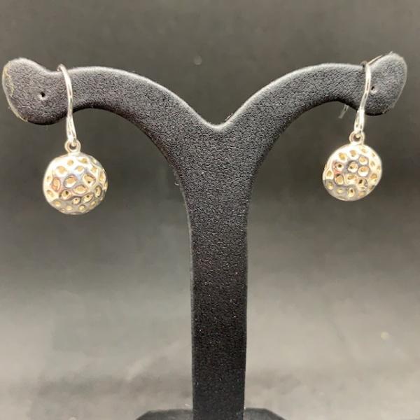 Lattice Disc Hook Earrings