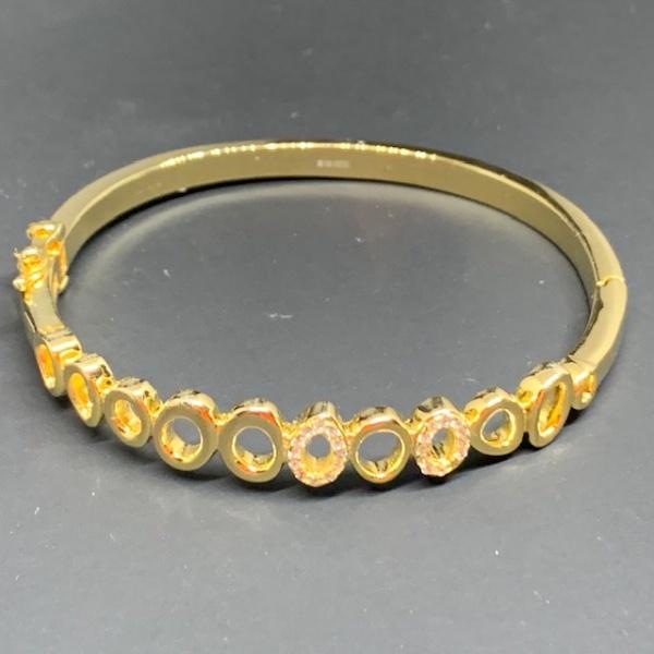 ONE OFF Gold overlay hinged bangle