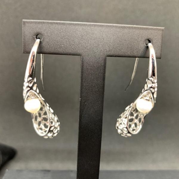 Pearl Twist lattice earrings ONE OFF