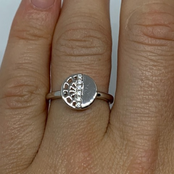 Web Lattice CZ Ring - ONE OFF