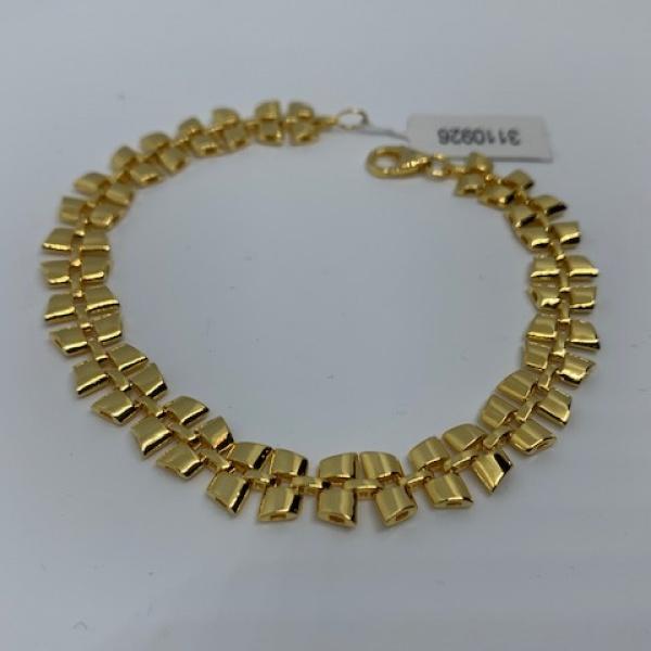 Vintage Link Bracelet Gold Overlay