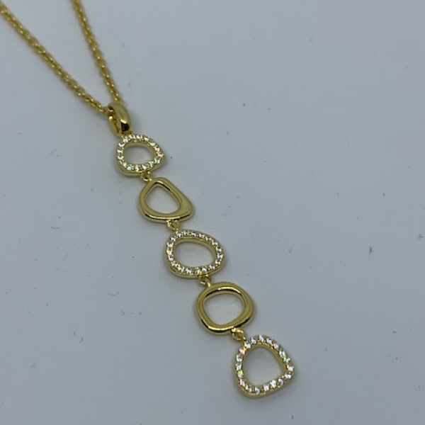 Versa silver cz pendant gold overlay