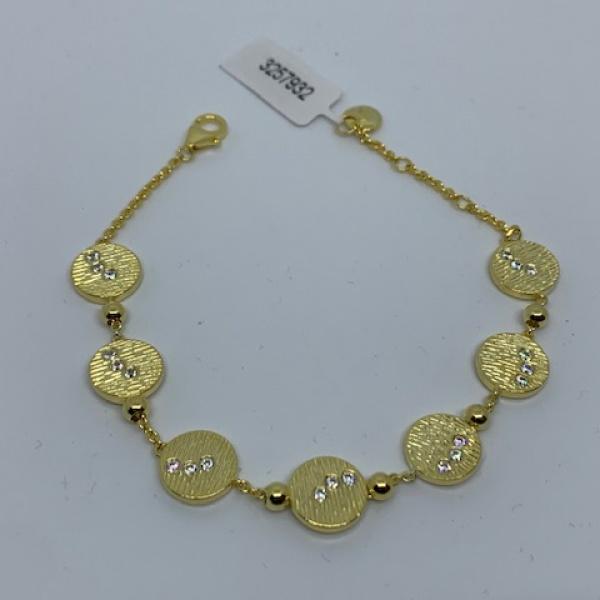 Ocean disc cz bracelet - one off