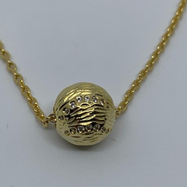 Ocean bead pendant cz - one off