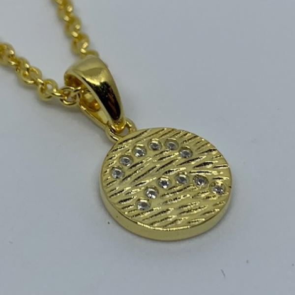 Ocean disc cz pendant