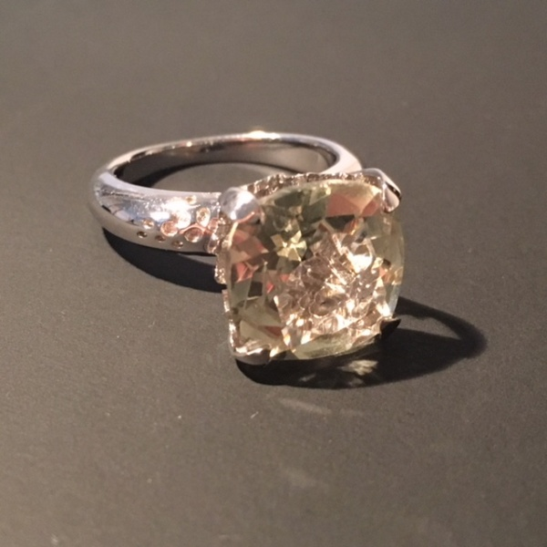 ONE OFF - Green Amethyst Cocktail Ring