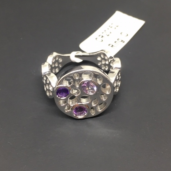 ONE OFF - Amethyst Circle Ring