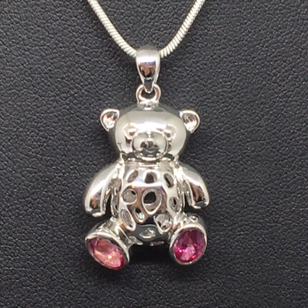 LIMITED EDITION - Pink Topaz Teddy Bear Charms