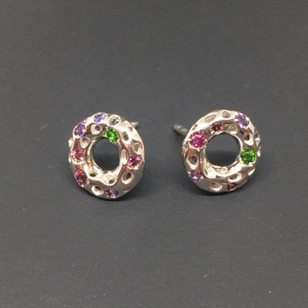 LIMITED EDITION - Gemstone Circle Studs